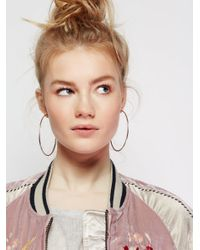 Free People | Metallic Cherry Bomb Ombre Hoops | Lyst