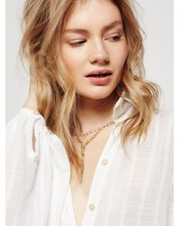 Free People | Metallic Chloe Delicate Chain Bolo | Lyst