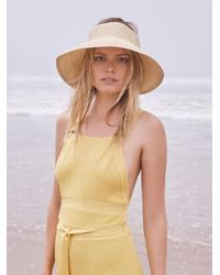 Free People | Natural Color Splash Packable Visor | Lyst