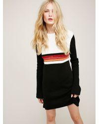 Free People | Multicolor Colorblock Swit Mini Dress | Lyst