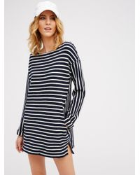Free People | Blue Come On Over Striped Tunic | Lyst