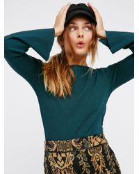 Free People | Green Cora Top | Lyst