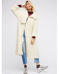 Free People | White Cozy Sweater Jacket | Lyst