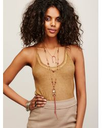 Free People | Brown Crystal Canyon Necklace | Lyst