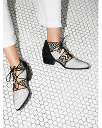 Free People | Black Cyrene Ankle Boot | Lyst