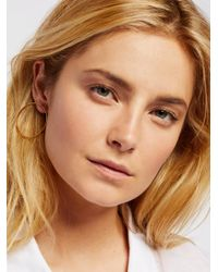 Free People - Metallic Basic Babe Front Hoops - Lyst