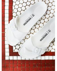Free People | White Eva Madrid Birkenstock | Lyst