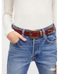 Free People - Brown Austin Leather Belt - Lyst