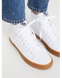 Free People - White Sk8-hi Reissue Gum Hi Top Sneaker - Lyst