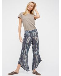 Free People | Blue Dancing Days Pull On Flare | Lyst