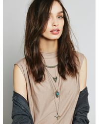 Free People | Metallic Dany Tiered Drop Collar | Lyst