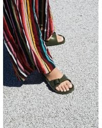 Free People - Green Eva Madrid Birkenstock - Lyst