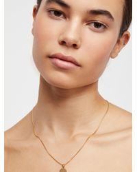 Free People - Metallic Baby Girl, You Are The World Necklace - Lyst