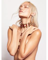 Free People | Multicolor Desert Rose Stone Ladder Necklace | Lyst