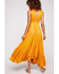 Free People - Yellow Sunday Sunshine Maxi Dress - Lyst