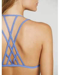 Free People - Blue Dolce Strappy Bra - Lyst