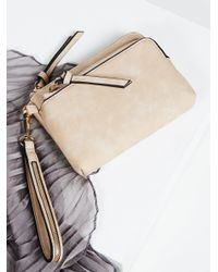 Free People | Natural Double Pocket Wristlet | Lyst