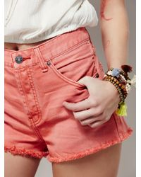 Free People - Red Downtown Cut Off - Lyst