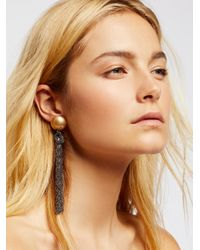 Free People | Metallic Downtown Tassel Earrings | Lyst