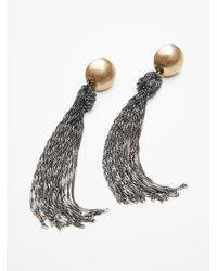 Free People | Metallic Downtown Tassel Earrings | Lyst