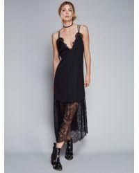 Free People   Black Dream Lover Midi Dress   Lyst