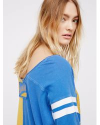 Free People | Blue Dream Player Tee | Lyst
