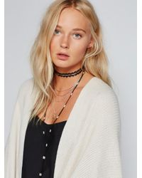 Free People | Black Dylana Delicate Leather Bolo | Lyst