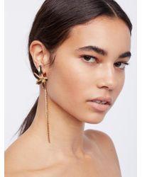 Free People | Brown Paradise Crystal Earrings | Lyst