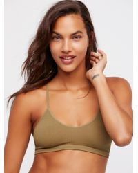 Free People - Brown Baby Racerback - Lyst