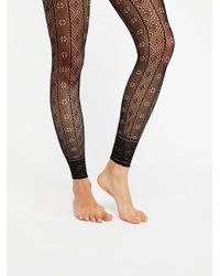 Free People - Black Rio Footless Tight - Lyst