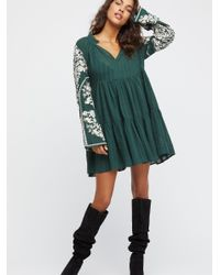Free People - Green Emerald City Dress - Lyst