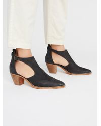 Free People - Black Coyote Crossing Ankle Boot - Lyst