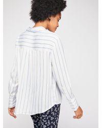 Free People White Alex Stripe Shirt