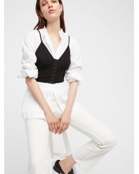 Free People - Black Vest Of All Cami - Lyst