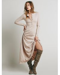 Free People | Natural El Topo Dress | Lyst