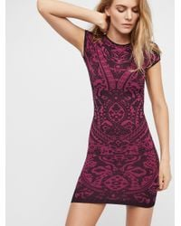 Free People | Purple Eleventh Hour Bodycon | Lyst
