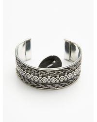 Free People   Metallic Engraved Bun Cuff   Lyst