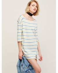 Free People | Blue Everyday Striped Tunic | Lyst