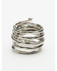 Free People - Metallic Twisted Raw Stones Ring - Lyst