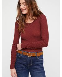 Lyst - Free People Boundary Layering Top By Intimately in Brown d0746782a