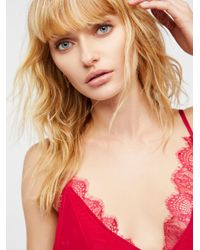 Free People - Red Lost Dreams Silk Cami By Intimately - Lyst