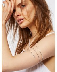 Free People - Metallic Metal Upper Armband - Lyst