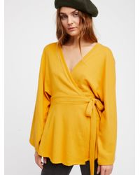 Free People - Yellow Neptune Square Tunic - Lyst