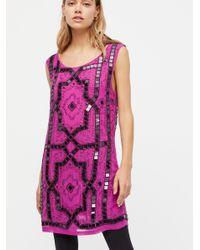 Free People | Purple Speak Easy Mini Dress | Lyst