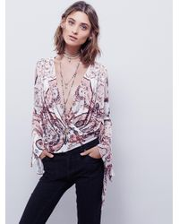 Free People - White Fiona Top - Lyst