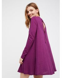 Free People | Purple First Date Dress | Lyst