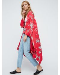 Free People | Multicolor Floral Handkerchief Kimono | Lyst