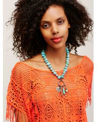 Free People - Blue Found Treasures Necklace - Lyst