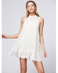 Free People | White Fp One Angel Lace Dress | Lyst