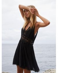 Free People | Black Fp One Coast To Cove Mini Dress | Lyst